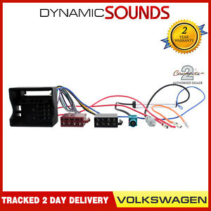 details about ct20au04 vw car radio stereo wiring harness iso loom \u0026 aerial adaptor for vwimage is loading ct20au04 vw car radio stereo wiring harness iso