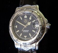 TAG Heuer 6000 Men's Stainless Steel Watch WH1115-K1 w/New Band **SEE DETAILS**