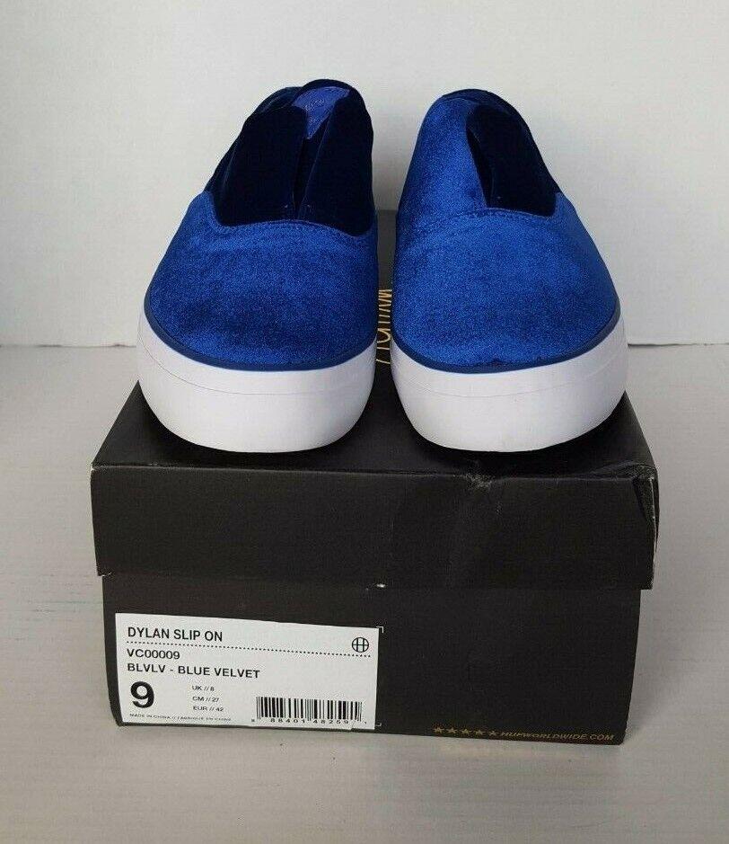 8cfc551ecc2f NIB HUF MEN S DYLAN blueE blueE blueE VELVET SLIP ON SHOES 9 2a67c1 ...