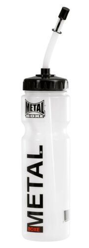 METAL BOXE Unisex Adult MB002Water Bottle White//Clear