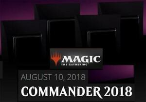 Magic Commander 2018 Sealed Box Set Of 4 Decks MTG