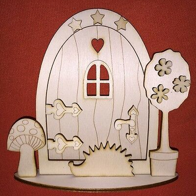 1 x 3D kit (n1) FAIRY / ELF / PIXIE DOOR WOODEN EMBELLISHMENT CRAFT SHAPE