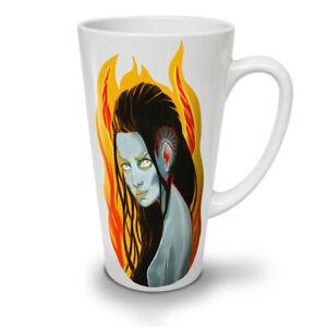 Girl Blue Fire Movie Art NEW White Tea Coffee Latte Mug 12 17 oz   Wellcoda