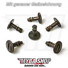 20x UNTERMOTOR UNTERFAHRSCHUTZ METALL CLIPS AUDI VW PASSAT SKODA KLIP 8D0805121B