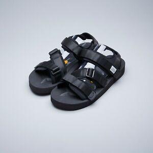 44874e3593b5 Details about Suicoke OG-044V   KISEE-V Black Nylon Vibram Sole Sandals  Slippers Slides