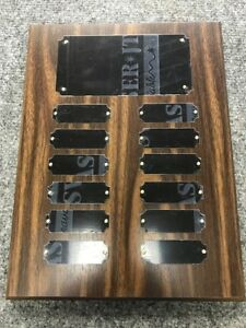 Employee of the Month//Perpetual Plaque 36 Plates FREE Engraving