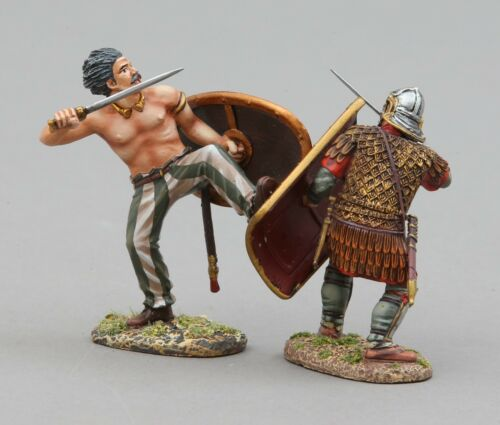 THOMAS GUNN ROMAN EMPIRE ROMEN004A BARBARIAN KICKING RED WHITE SHIELD MIB