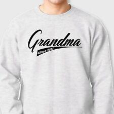 GRANDMA Since 2013 T-shirt Funny Gift New Baby Announcement Crew Sweatshirt