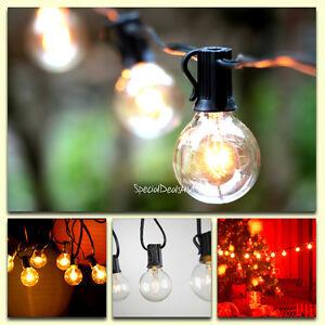 Vintage Backyard Patio Lights Outdoor String Globe Wedding Light 25 Clear Gaz