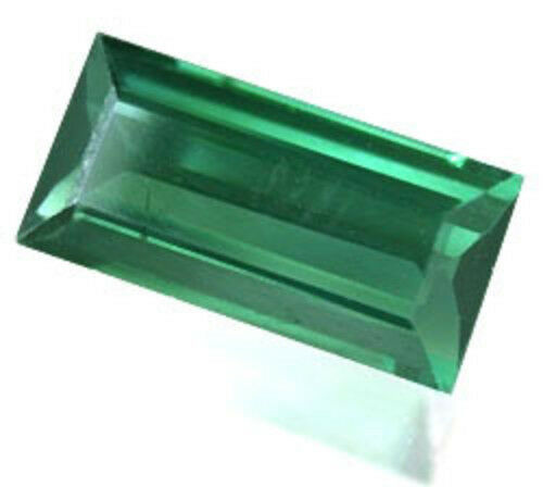 1.95 cts 10x5 mm baguette Green Lab Created spinel