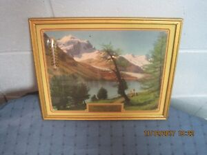 VINTAGE ADVERTISING FRAMED WALL HANGING / CALENDAR / THERMOMETER! BEULAH , ND