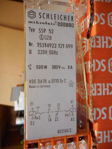 1 x NEU Schleicher mikrolais SSP 52 Relais Zeitrelais Nr 15314922-121 099