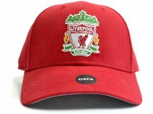 Officiel Liverpool Football Club Basic Crest Logo Rouge Baseball Hat Cap-afficher Le Titre D'origine