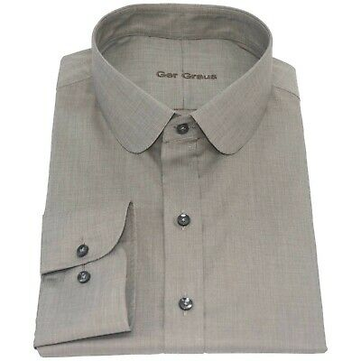 Peaky Blinders Chemise à col Penny Rayures Blanche homme Col rond Fête Shelby