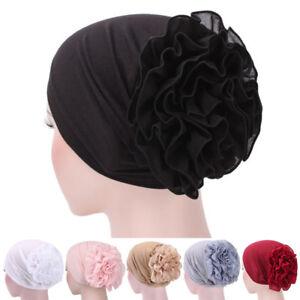 Women-Flower-Stretchy-Turban-Head-Wrap-Band-Chemo-Bandana-Hijab-Pleated-Indian