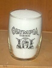 OLYMPIA Beer Enamel Barrel Beer Glass 1960's TUMWATER Washington BLACK Logo