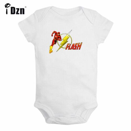 The Flash Barry Allen Print Newborn Jumpsuit Baby Romper Bodysuit Clothes Outfit