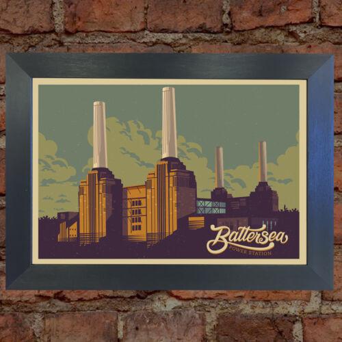 BATTERSEA POWER STATION RETRO TRAVEL Poster Home Art Print Wall Decor #22