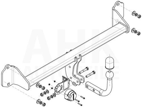 Für BMW X1 F48 Anhängerkupplung starr+ESatz 13pol ABE