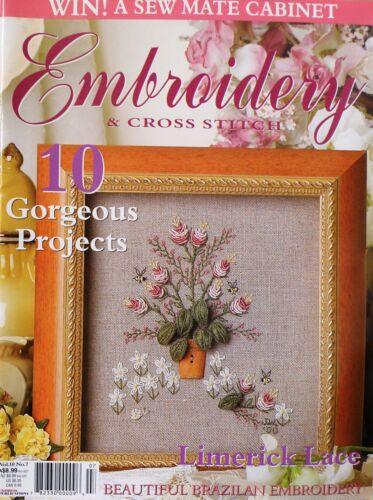 1 of 1 - Embroidery & Cross Stitch Magazine - Vol 10 No 7 -  20% Bulk Magazine Discount