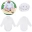 3-24M Baby Boys Smart Shirt Style Bodysuit Formal Body Shirt Long Sleeve Wedding