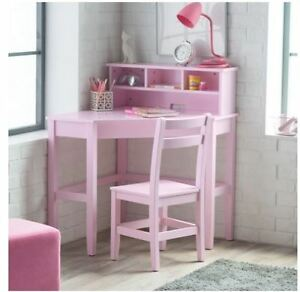 School Desks For Kids Computer Desk And Chair Set Girl Corner Hutch