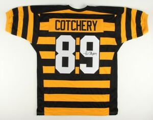 Details About Jerricho Cotchery Signed Steelers Throwback Jersey Gridiron Legends Coa