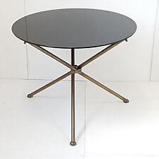 TABLE BASSE TABLE D'APPOINT GUERIDON ROND 1950 VINTAGE ANNEES 50 EN VERRE LAITON