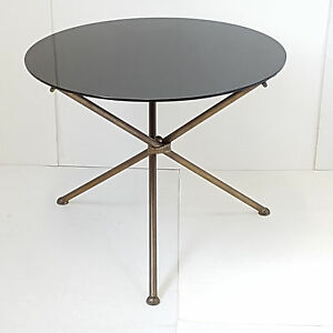 Image Is Loading COFFEE TABLE SIDE TABLE PEDESTAL TABLE ROUND 1950