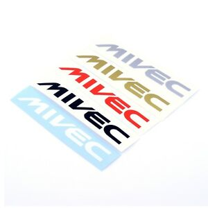 Mitsubishi-MIVEC-STICKERS-Decal-Vinyl-150mm-x2-Car-Wing-Panel-Spoiler-Ralliart