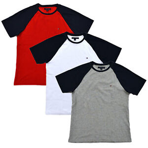 9aacda20 Image is loading Tommy-Hilfiger-Mens-T-shirt-Short-Sleeve-Raglan-