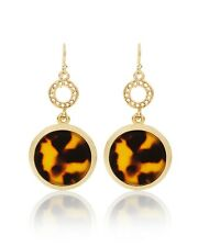 NWT WHITE HOUSE BLACK MARKET GOLDEN TORTOISE PATTERN DROP EARRINGS