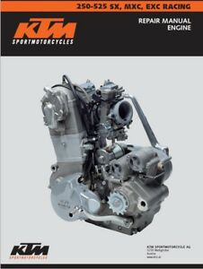 2000 ktm 400 520 sx exc racing engine spare parts manual.