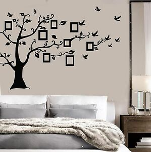 Details About Vinyl Wall Decal Family Tree Room Decoration Home Birds Stickers  Mural (ig3649)