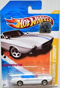 Modellbau Schneidig Hot Wheels 2011 Neu Modelle '63 Mustang Ii Konzept Weiß Werkseitig Versiegelt Weich Und Rutschhemmend