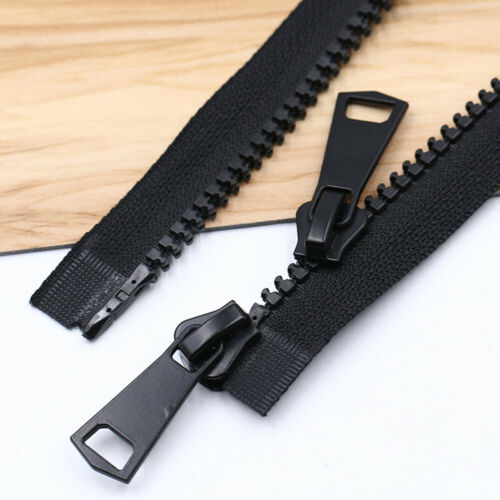 5pcs No.8 Resin Zippers 2 Way Open Ended Zip for Clothes Suitcase Sewing Crafts