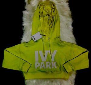 04ba4d010d3 Image is loading IVY-PARK-Yellow-Pullover-Beyonce-Crop-Sweatshirt-Hoodie-