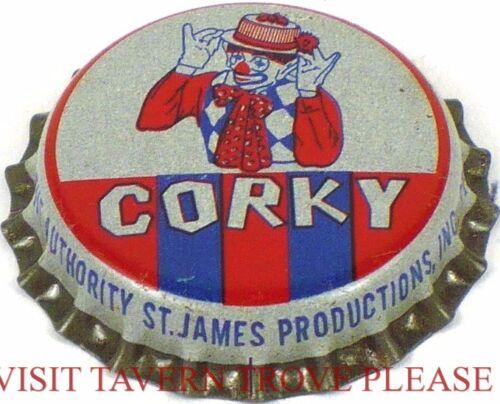 Unused 1950s Corky the Clown Soda Cork Crown St James Louis Missouri