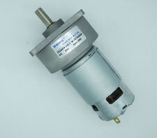 ZGA60FM-G 12V 35RPM Rotate Speed Connector 8mm Dia Shaft DC Geared Motor