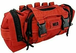 ELITE FIRST AID Rapid Response Bag STOCKED Tactical Medic Trauma Kit Bag RED