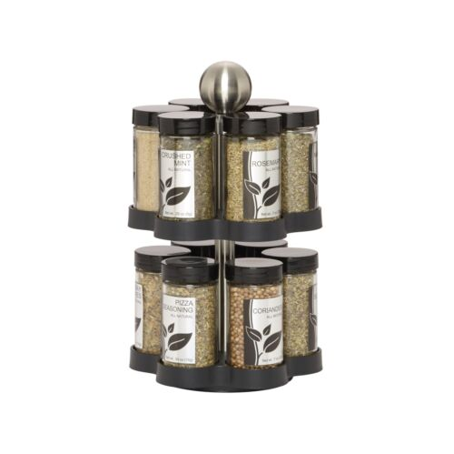 Kamenstein Madison 12-Jar Revolving Spice Rack with Free Spice Refills for 5 ...