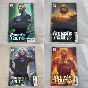 (Lot Of 4) Fantastic Four 1 October 2018 Artgerm Variant Marvel Comics