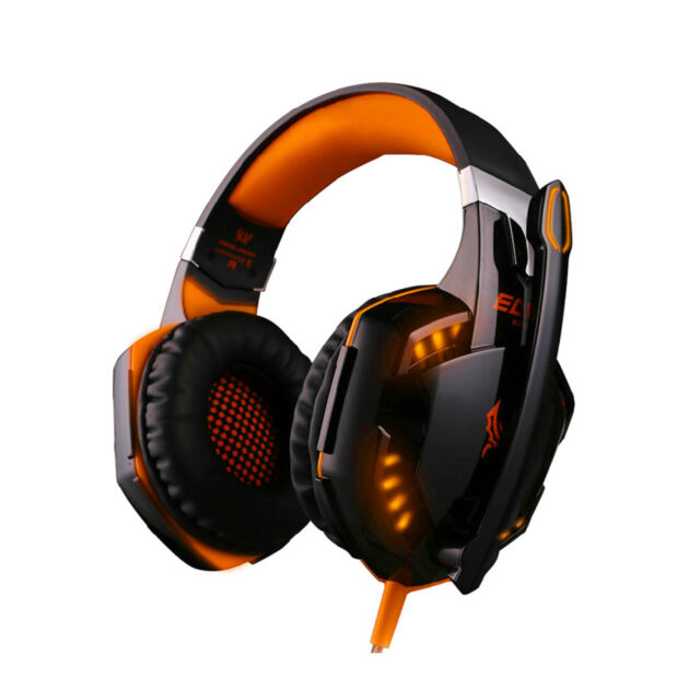 3.5mm Stereo G2000 Surround Gaming Headset Headphones micro +USB F/orange Light