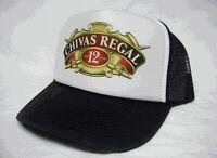Chivas Regal Whiskey Trucker Hat Mesh Hat Snapback Hat Black