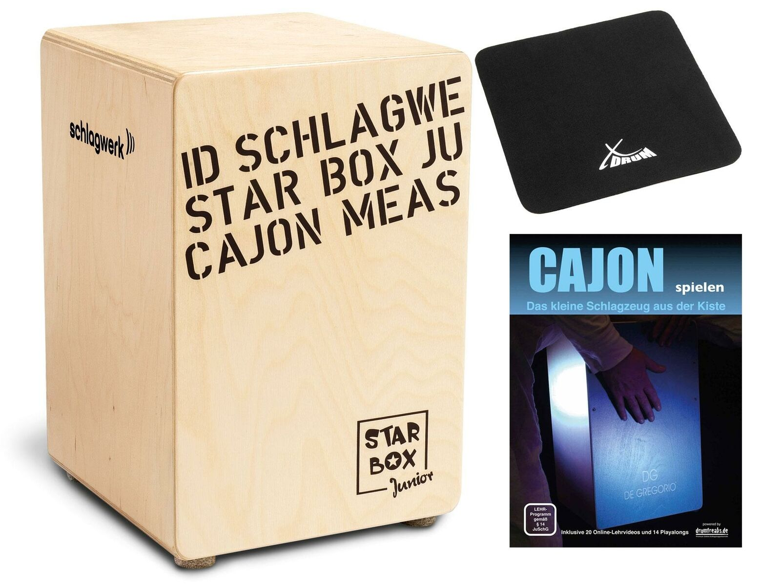 Schlagwerk CP400SB Star Box Kids Kinder Cajon Percussion Drum Set Sitzpad Schule