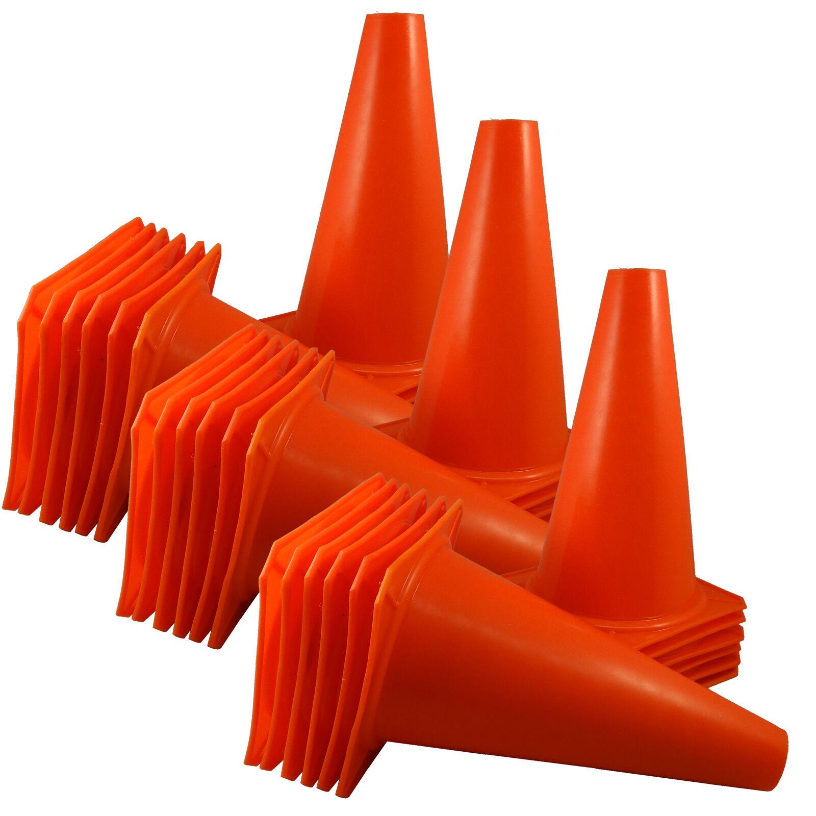 9  INCH orange CONES (SET OF 36) SPORTS AGILITY TRAFFIC FIELD ROAD SOCCER  USA