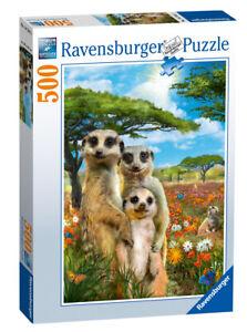 14744-Ravensburger-espiegle-Suricates-Jigsaw-500pcs-adulte-Puzzle-10-Ans