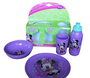 Image Is Loading Disney Minnie Mouse Children Purple Dining Set Melamine