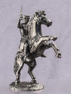 Zinnfigur-40mm-Equestrian-knight-Miniature-figurine-of-a-RIDER-Toy-soldiers-1-43