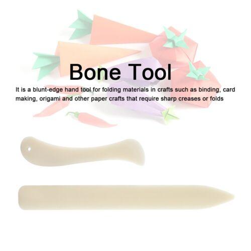 2PCS 2 Size Bone Folder Paper Creaser Tool Scoring Folding Creasing Edges Set